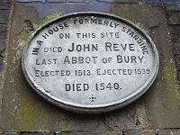 Plaque Remembering John Reve